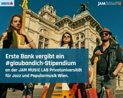 Erste Bank vergibt ein #glaubandich-Stipendium an Jam Music Lab University